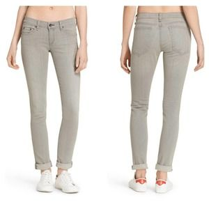 Rag & Bone Dre Boyfriend Skinny Jeans/ Aged Grey